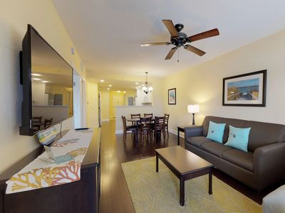 Photo for NEW LISTING! Sunny, waterfront condo w/balcony & shared pool - walk to the beach