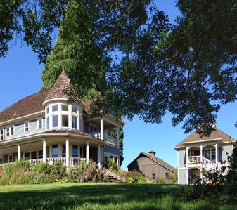 Main house, historic barn and Carriage House.  Main house also available.