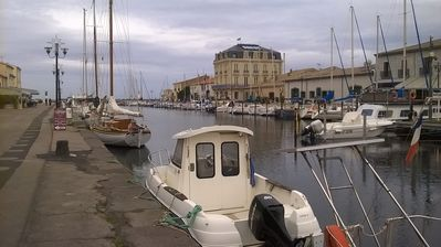Photo for Studio ground floor 28 m2 near the port.  and the canl du midi and pond