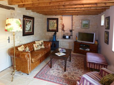 Photo for Chez Hall, La Grange, 2bdr/2bth converted barn bursting with charm, Meursault