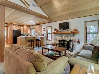 Photo for Charming & elegant log cabin right on Strawberry Creek - 1 dog welcome!