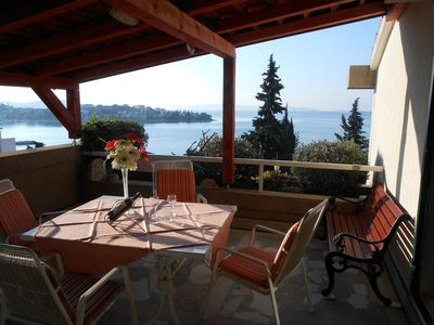 Photo for Three bedroom apartment with terrace and sea view Seget Vranjica (Trogir)