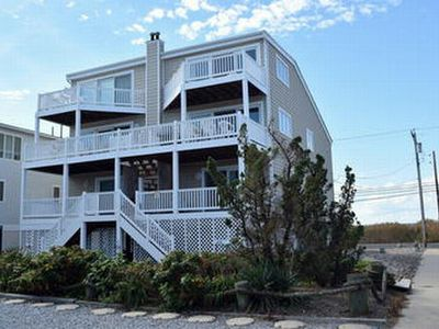 BEACH FRONT HOME!!! Great ocean views from the two decks facing the ocean. There are also great bay and wetland views from the west facing deck.