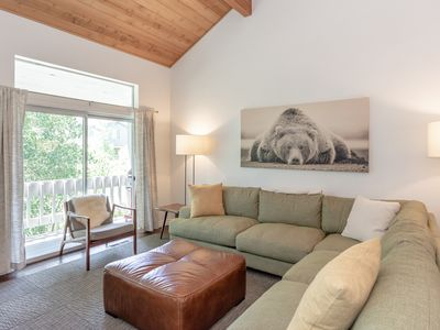 Photo for Family-friendly condo with Sherwin Mountain views, two private decks and shared hot tub