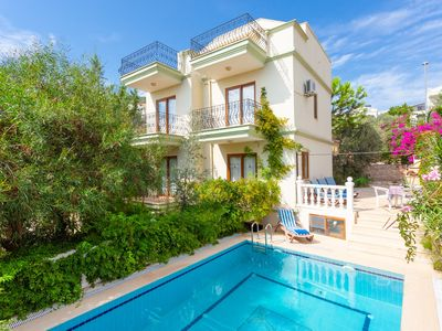 Photo for Villa Antiphellos : Large Private Pool, Walk to Beach, A/C, WiFi, Car Not Required, Eco-Friendly