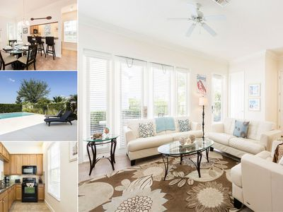 Photo for Luxury Private Pool Home Lakefront with Upgrades - Only 6 miles to Disney!