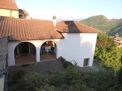 Photo for Hillside villa with secluded terrace, extensive gardens and spectacular views