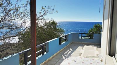 Photo for The apartment is located directly on the beach of Frankokastello on the south coast of Crete and can accommodate up to 4 people. Pure tranquility.