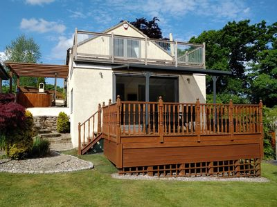 Photo for Luxury Annexe  set within gated grounds. Hot Tub and private gardens