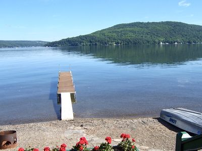 Photo for The View Alone is a Charming Keuka Lake cottage with gorgeous views of The Bluff