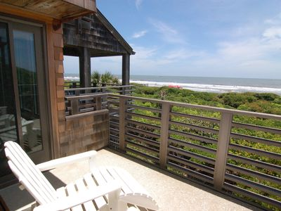 Photo for First floor oceanfront villa w/ sundeck & covered porch only steps to the beach!
