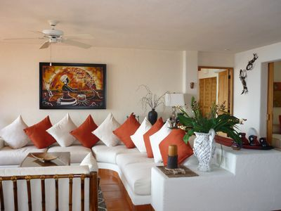 Photo for Spacious, Bright, breezy condo. Million dollar views, Mins from Playa La Ropa