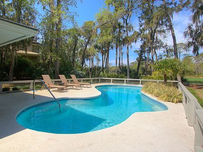 New to VRBO! Beautiful Sea Pines Beach Home w/ Private Pool, Screened Porch
