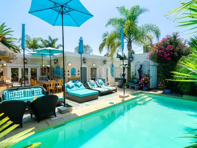 Photo for Pacific Palisades Tropical Paradise Retreat With Private Pool Patio & Guesthouse