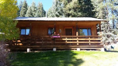 Photo for Peaceful Getaway in a 1 bedroom cabin ~ 1/2 mile from beautiful Lake Vallecito