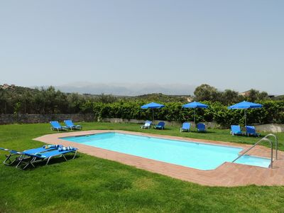 Photo for Private pool, & large garden - 100m from beach, tavernas & shops in Almyrida.