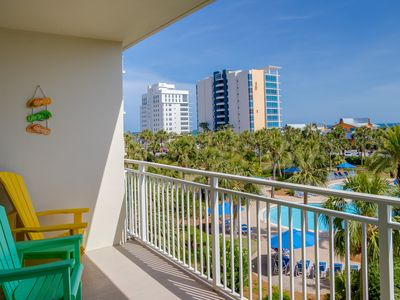 Photo for Elegant condo w/sweeping gulf views, shared pools, snack bar & grill area!