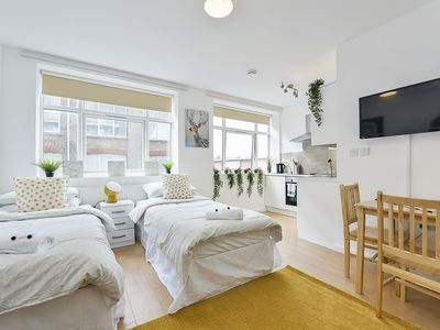 Photo for BEAUTIFUL NEW STUDIO PRIVATE FLAT, 2 Single Beds