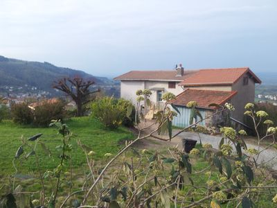 Photo for One bedroom house in Thiers, impressive views and garden