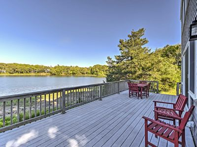 Photo for Bourne House w/ Furnished Deck & Waterfront Views!