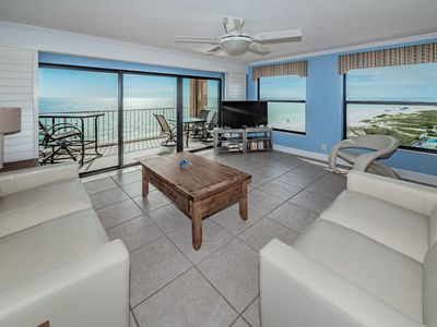 Photo for OCEAN FRONT SERENITY!! Beautifully corner condo with breathtaking Gulf Front Views!!   FREE Wi-Fi & Cable.