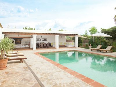 Photo for Country house in Ibiza style with beautiful pool and several terraces