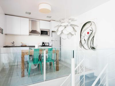 Photo for Be Apartment - Beautiful duplex penthouse with chill out terrace. 3 bedrooms and 2 bathrooms. Located in the center of Sitges and a few meters from the beach.