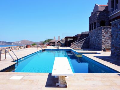 Photo for Two luxurious villa with a guest house, swimming pool and paoramic sea view