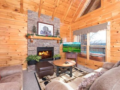 Photo for Hideaway From Stress at Hunter's Hideaway! | Luxury | Mountain Views | WiFi | Pool Table | Loft