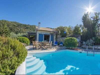 Photo for Villa Anastasia - Lovely Traditional 2 Bedroom Villa, A/C, Private Pool, only 800 Meters to Agios Nikitas Beach and Village ! Free WiFi