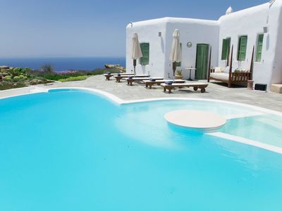 Photo for GREAT LOCATION, SERVICE AND STAY. LUXURY VILLA IRIDA MYKONOS. 5 BEDROOM 5 BATHROOMS 450 SQUARE METER