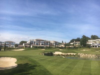 View from Golf Course towards apartments