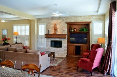 Inviting Living Area designed for comfort including 2 reclining wing back chairs