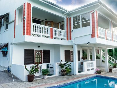 Photo for Large 7-Bedroom Sea-View Villa, Rodney Bay