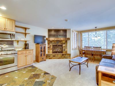 Photo for Ski condo with shuttle access & shared sauna, hot tub, pool, and rec center!