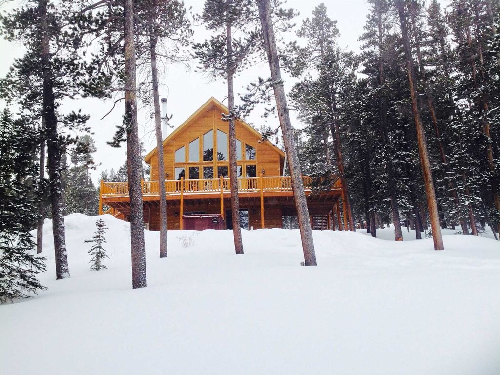 Alpenhaus custom hut met bubbelbad speelk homeaway for Cabine vicino a fairplay co