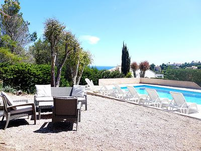Photo for Saint-Aygulf Holiday Home, Sleeps 10 with Pool, Air Con and Free WiFi