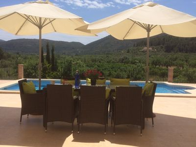 Photo for Deluxe, private villa with own large heated pool in the beautiful Jalon Valley
