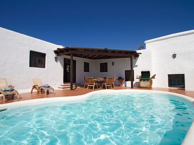 Photo for Finca with Private Pool and Striking Views of Hills and Sea