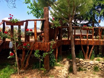 Photo for Sirince Rental Standard Double Room. Situated in an old Greek house, Stone House is surrounded by pines on the hillside of Sirince, Selcuk region