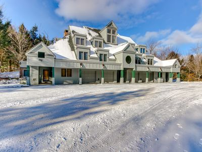 Photo for Ski-in/out condo at Okemo w/ a fireplace and beautiful views!