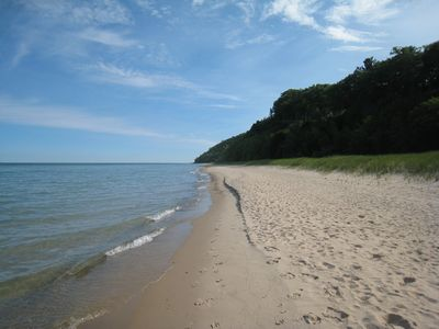Walk to Lake Michigan. Perfect sugar sand beaches for swimming and long walks