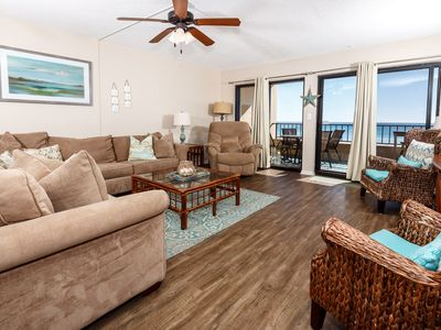 Photo for Surf Dweller 211: VERY SPACIOUS! BEACH FRONT, WIFI, Pool, tennis ct, balcony