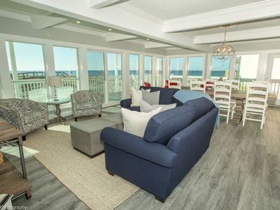 Photo for Stunning Gulf Front 3 BR - steps away from the beach - completely renovated - sleeps 6