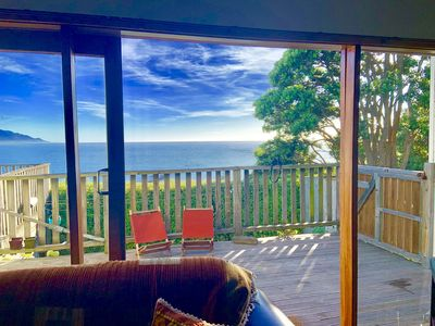 Photo for Three bedroom cottage with stunning views of the sea and mountains.