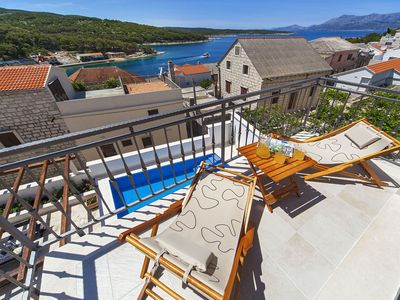 Photo for Beautiful apartment for 10 guests with private pool, A/C, WIFI, TV, balcony and parking