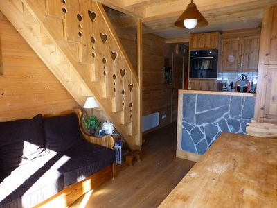 """Photo for Foot of the slopes duplex 3 bedrooms 6 sleeping spirit """"chalet"""" quiet shops"""