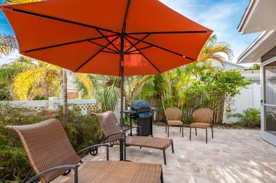 Relax on the patio at Gladiolus Getaway!