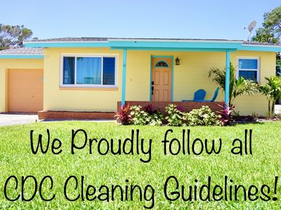 *CDC CLEANINGS & PETS OK!* Tropical Oasis Steps to the Ocean Center & Beach!