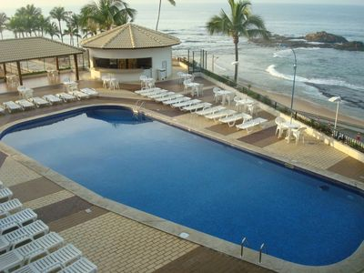 Swimming pool area with bar
